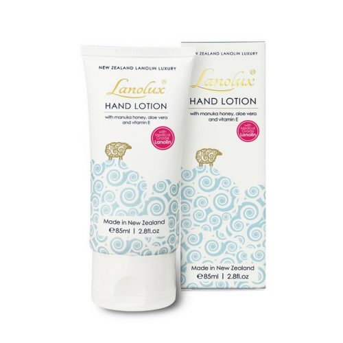 New Zealand Lanolux hand lotion with box