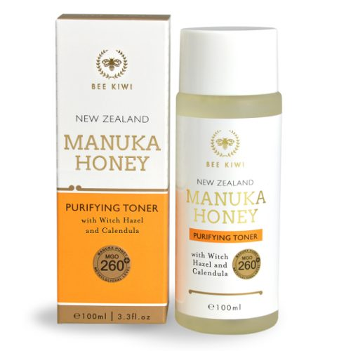 New Zealand Bee Kiwi manuka honey toner with box
