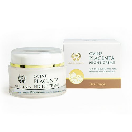 new zealand nature's beauty ovine placenta night cream with box