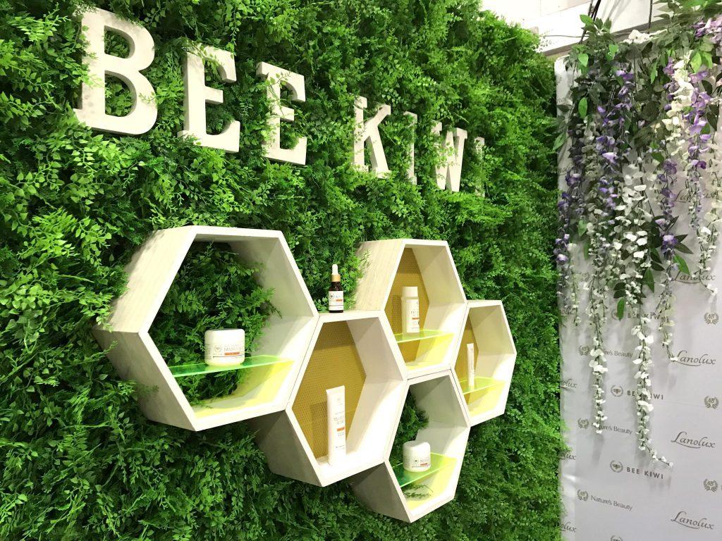 bee kiwi shelf display at lifestyle expo 2018 auckland new zealand